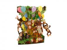 Картичка Monkey Party, Swing Cards
